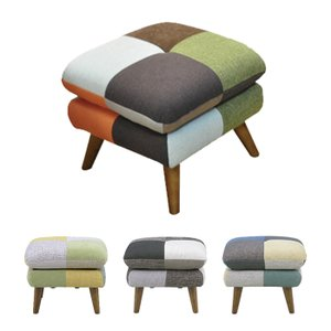 オットマン スツール 足置き台 ソファ 椅子 パッチワーク 北欧 おしゃれ 人気 家具 アウトレット セールの写真