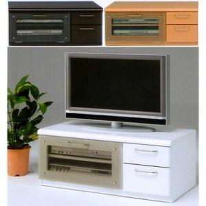 コンパクトサイズで一人暮らしにピッタリのテレビ台。引出しレール付、背面化粧仕上げ。配線収納ポケット付|kaguyatai