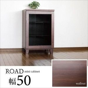 キャビネット サイドボード 幅50cm 完成品 ウォールナット無垢 北欧 日本製 kaguzanmai01