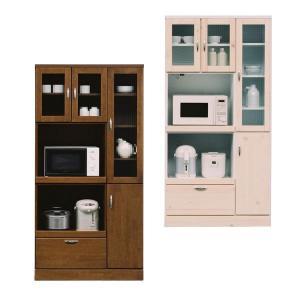 食器棚 レンジ台 幅90cm 完成品 キッチン収納 北欧 モダン 日本製 開梱設置無料|kaguzanmai01