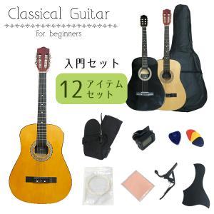 クラシックギター アコースティックギター 初心者向け 3色から選べる 入門12点セット