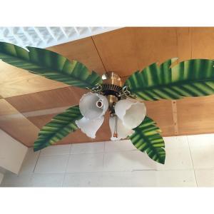 シーリングファン 交換用ブレード 日本で買えるシーリングファンにつきますハワイアン5枚セットハワイアン雑貨 ハワイアンランプ|kahinetshop