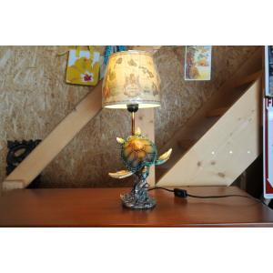 ホヌテーブルランプ ブロンズ調 グッドコンディション kahinetshop