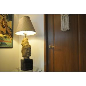 1950s James Mont BUDDAH TABLE LAMP  ミッドセンチュリーデザインランプ ジェームスモント ブッダランプ|kahinetshop