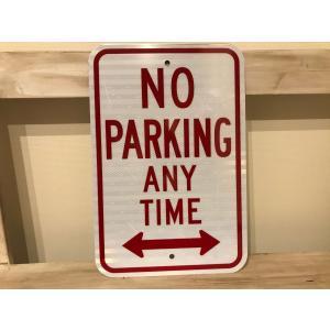 No parking any time メタルサイン|kahinetshop
