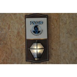 primo beer プリモウォールハンギングサインランプハワイアン雑貨バーライトハワイアンアンティークバーライト ハワイアンランプ|kahinetshop
