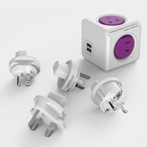 allocacoc 電源タップ PowerCube 国際版 パープル/USBポートあり 1930/JPRU4P お取り寄せ|kahoo