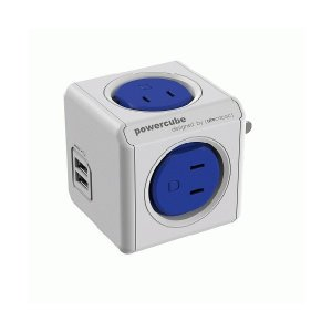 allocacoc 電源タップ PowerCube 青/コードなし/USBポートあり 4290/JPOUPC お取り寄せ|kahoo