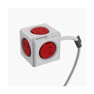 allocacoc 電源タップ PowerCube 赤/コード3m 4394/JPEXPC お取り寄せ|kahoo