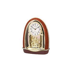 4RN414-023 リズム時計工業 置き時計 茶色木目仕上 お取り寄せ|kahoo