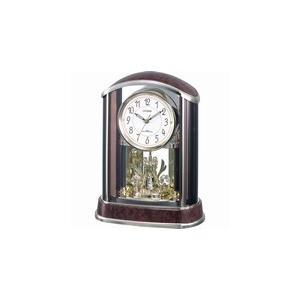 4RY658-N23 リズム時計工業 置き時計 パルアモールR658N 茶色木目仕上 お取り寄せ|kahoo