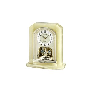 4RY691-005 リズム時計工業 置き時計 パルラフィーネR691 ライトグリーン お取り寄せ|kahoo