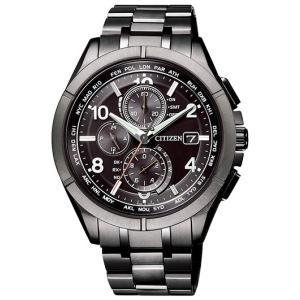 シチズン アテッサ AT8166-59E ブラックチタンシリーズ 腕時計 (1)|kahoo