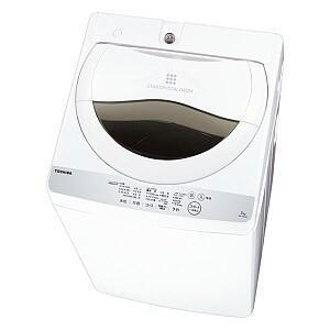 全自動洗濯機 東芝 5kg AW-5G6 AW-5G6-W ...