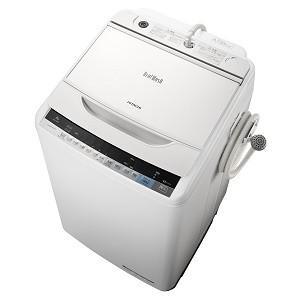 日立 8kg 全自動洗濯機 ビートウォッシュ ホワイト BW-V80A-W 在庫わずか【大型】