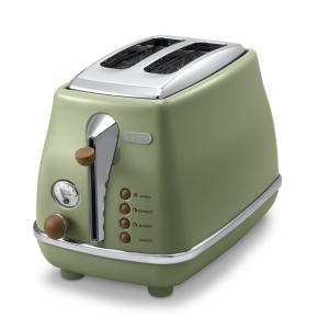 ポップアップトースター デロンギ アイコナ ヴィンテージ コレクション オリーブグリーン CTOV2003J-GR (1)|kahoo