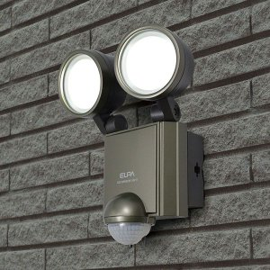 お取り寄せ ESL-602AC 朝日電器 ELPA 屋外用センサーライト AC電源 6wLED 2灯|kahoo