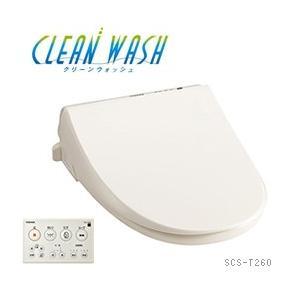 温水洗浄便座 クリーンウォッシュ SCS-T260 東芝 パステルアイボリー (1)|kahoo