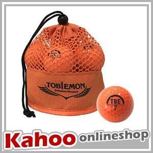 公認球 飛衛門 TOBIEMON 2ピース オレンジ TBM-2MBO / 12球入り メッシュバッグ入り 2017年モデル|kahoo