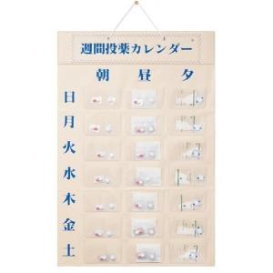 週間投薬カレンダー(朝、昼、夕の一日3回用) 壁掛け式 薬入れケース お薬カレンダー 1週間分 介護用品 東武商品サービス