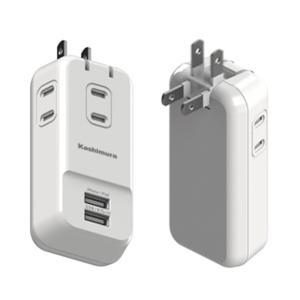 3口のACコンセントと2ポートのUSB搭載。USB付き電源コンセントタップです。ACコンセントは3口...