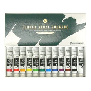 ターナー色彩 アクリルガッシュ 12色 スクールセット 11ml えのぐ 絵の具 絵具 塗料 画材 図工 美術 アート アーテック 106412