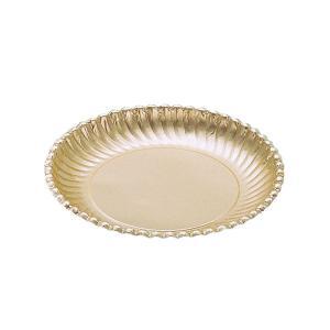 紙皿ゴールドプレート(菊型)8号 | 紙皿|kaicom