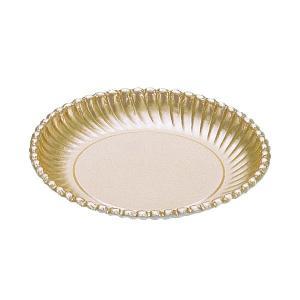 紙皿ゴールドプレート(菊型)7号 | 紙皿|kaicom