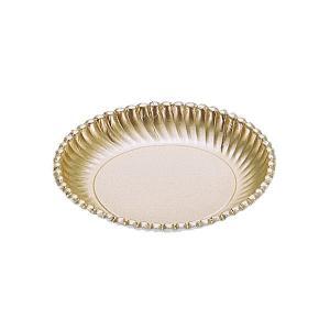 紙皿ゴールドプレート(菊型)6号 | 紙皿|kaicom