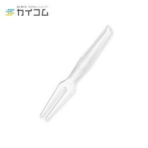 カッター付フォーク#80(B) バラ | 使い捨てフォーク|kaicom