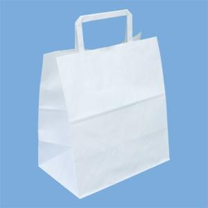 手提げ袋 白 No.1 | 紙袋・ポリ袋|kaicom