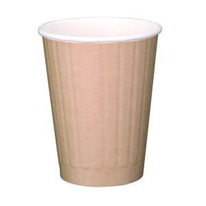 紙カップ 12オンスDWカップ (クラフト)|kaicom