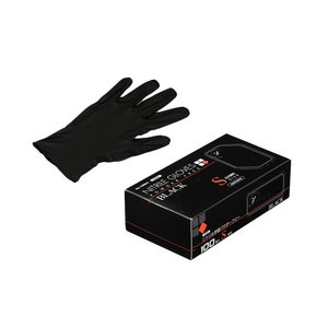 N460 ニトリル手袋 粉無 BLACK (S)|kaicom