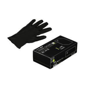 ニトリル手袋 100枚 使い捨て 粉無 BLACK (L) N460 楽天ランキング入賞★