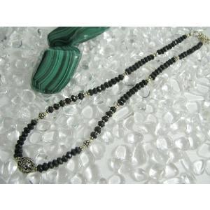 話題沸騰!天然石 Silver925使用 ブラックスピネルネックレス☆|kaicrystal