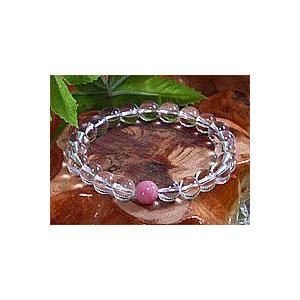 <天然水晶>23種類からお好みのポイント石が選べる水晶ブレスレット23色の中からあなたの好きな1色を|kaicrystal|02