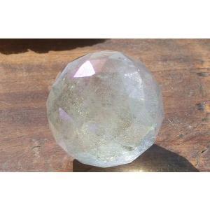 天然水晶サンキャッチャー用ミラーボール39mmオーラ加工タイプ|kaicrystal