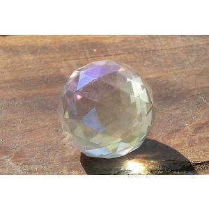 天然水晶サンキャッチャー用ミラーボール24mmオーラ加工タイプ|kaicrystal