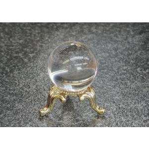 天然水晶玉AA1寸玉台座付き 透明度抜群の天然水晶の丸玉! 神棚などに是非