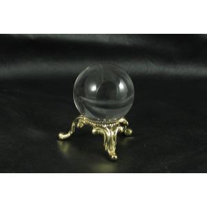 天然水晶玉AA1寸玉台座付き 透明度抜群の天然水晶の丸玉! 神棚などに是非|kaicrystal|02