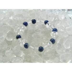 天然石リング ラピスラズリ&水晶☆|kaicrystal