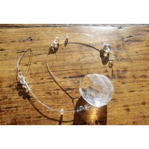天然の水晶を使ったシンプルなサンキャッチャーMサイズ                              |kaicrystal