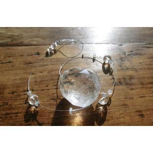 天然の水晶を使ったシンプルなサンキャッチャーLサイズ|kaicrystal