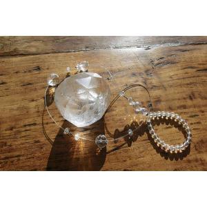 天然の水晶を使ったシンプルなサンキャッチャーLLサイズ |kaicrystal