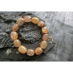 ルチルクォーツ(金紅石入り水晶)俵型ブレスレット5|kaicrystal