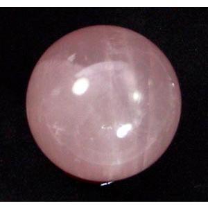 天然石☆星 スターローズクォーツ(紅水晶)丸玉|kaicrystal