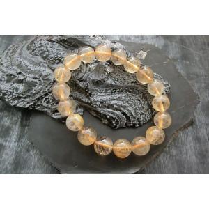 ルチルクォーツ(金紅石入り水晶)12ミリブレスレット3|kaicrystal