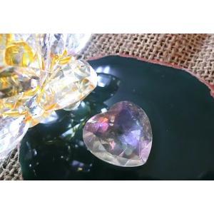 オーラ水晶サンキャッチャー用カットハート25×25mm|kaicrystal