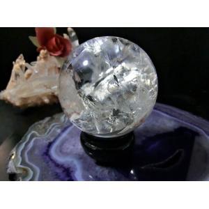 天然水晶(クラック入り)丸玉|kaicrystal