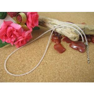 チェーンにもネックレスにも☆細め2ミリ美容・疲労回復の石ローズクォーツ(紅水晶)ネックレス|kaicrystal